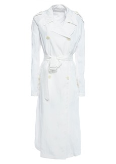 Helmut Lang Woman Belted Shell Trench Coat White