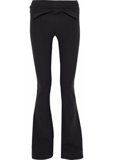 Helmut Lang Woman Belted Stretch-knit Flared Pants Black