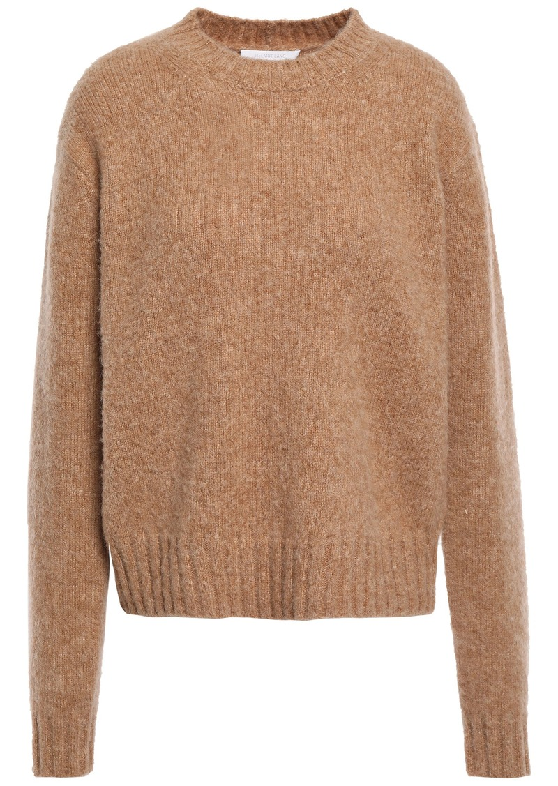 Helmut Lang Woman Brushed Mélange Knitted Sweater Sand