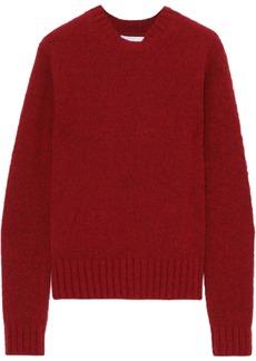Helmut Lang Woman Brushed Mélange Knitted Sweater Crimson