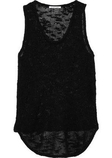 Helmut Lang Woman Burnout-effect Silk Tank Black