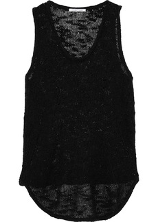 Helmut Lang Woman Bouclé-knit Silk Tank Black