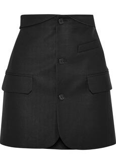 Helmut Lang Woman Button-detailed Piqué Mini Skirt Black