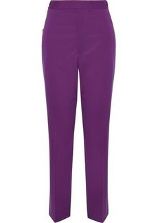 Helmut Lang Woman Button-detailed Wool-twill Straight-leg Pants Violet