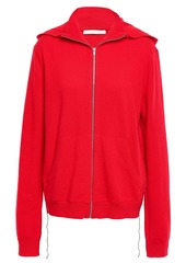 Helmut Lang Woman Cashmere Hoodie Tomato Red