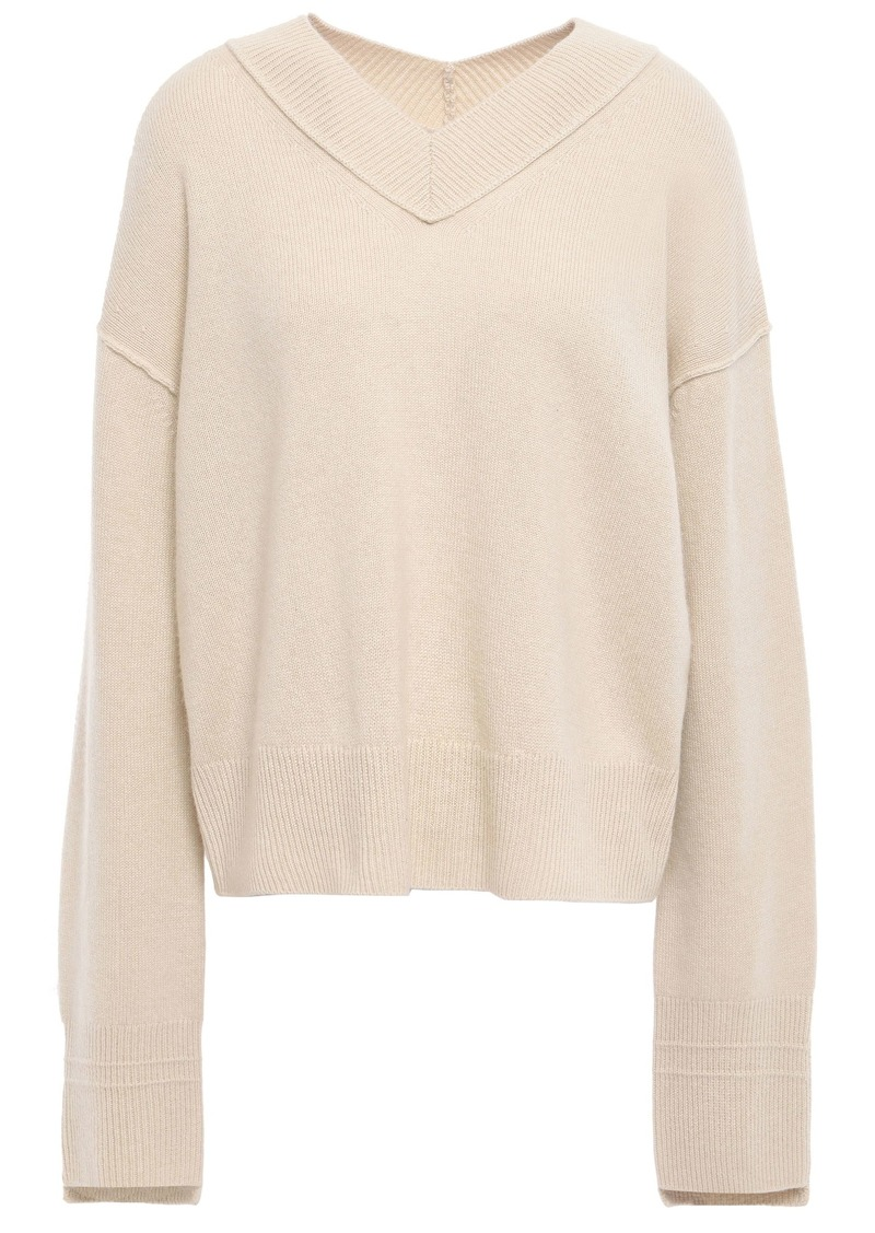 Helmut Lang Woman Cashmere Sweater Beige