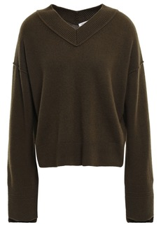 Helmut Lang Woman Cashmere Sweater Army Green