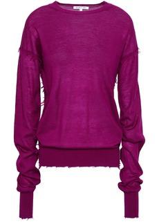 Helmut Lang Woman Cashmere Sweater Purple