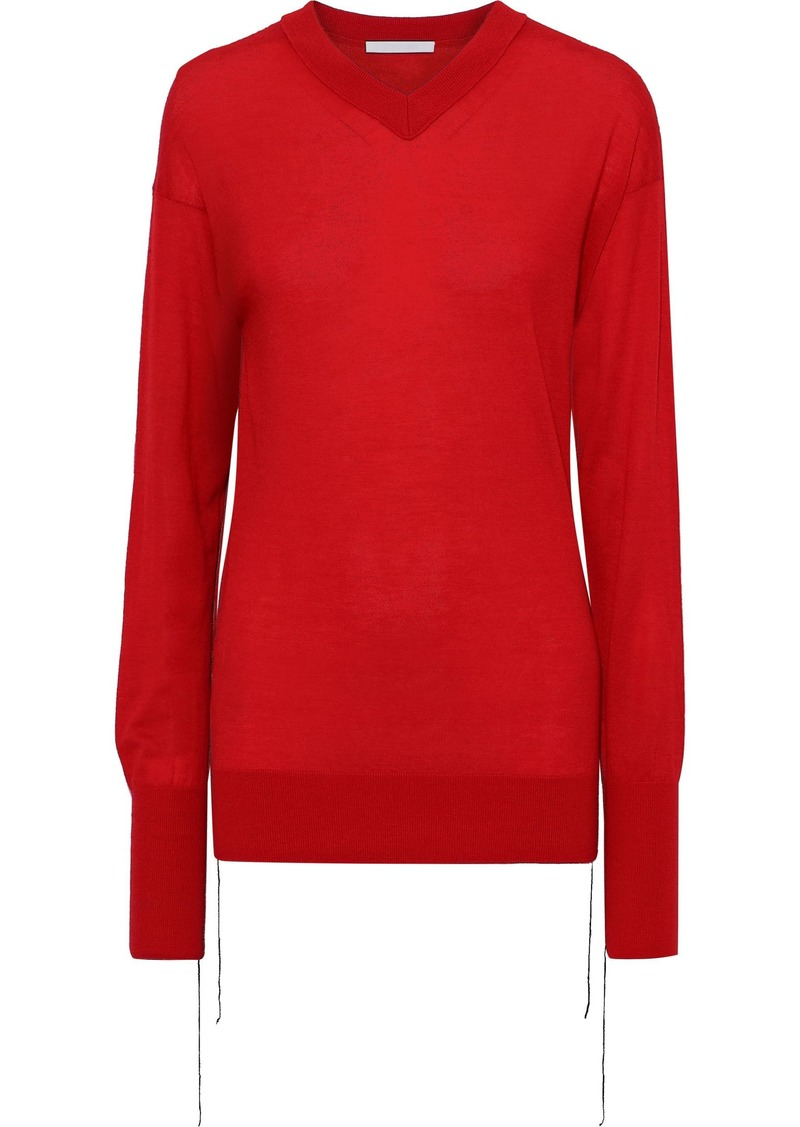 Helmut Lang Woman Cashmere Sweater Red