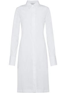 Helmut Lang Woman Cotton-blend Poplin Shirt Dress White