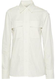 Helmut Lang Woman Cotton-blend Twill Shirt Off-white