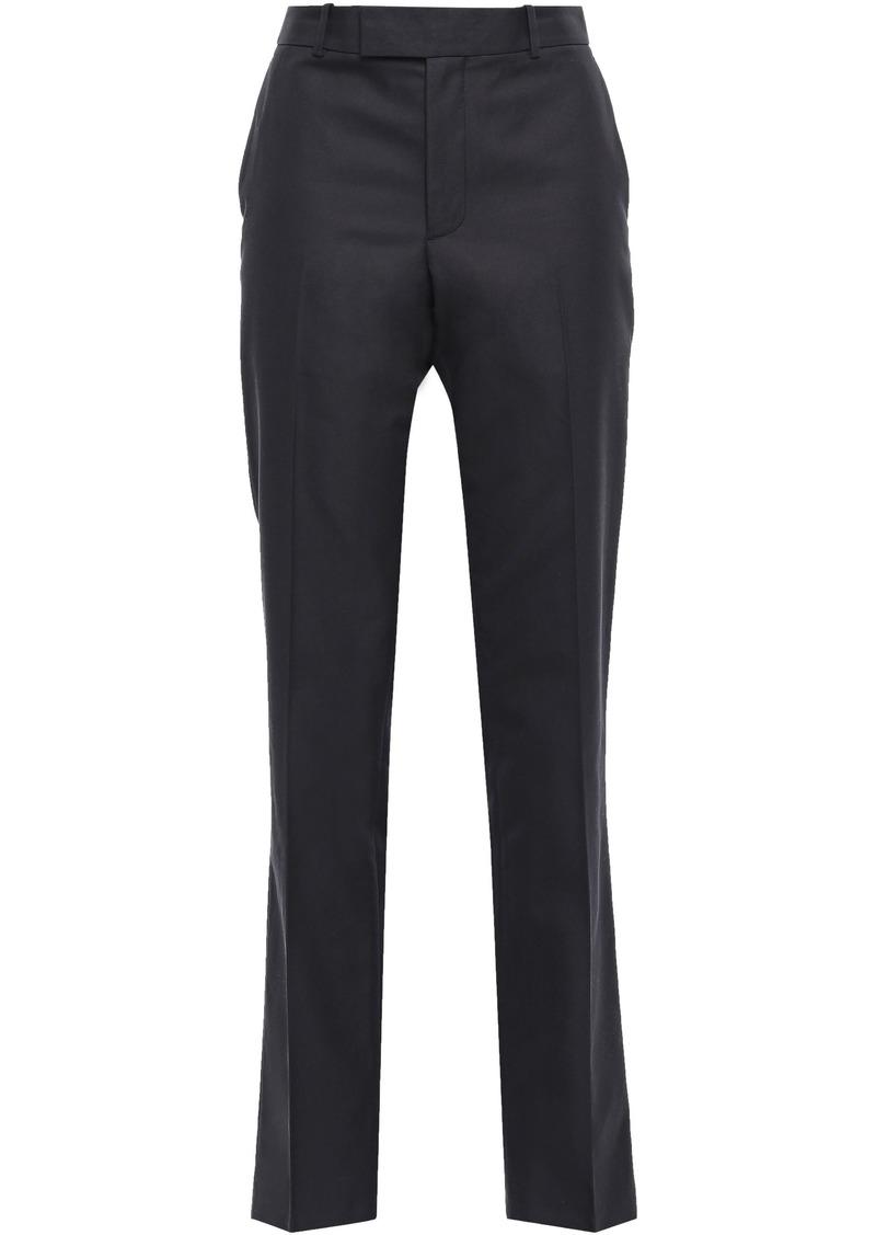 Helmut Lang Woman Cotton-blend Twill Straight-leg Pants Black