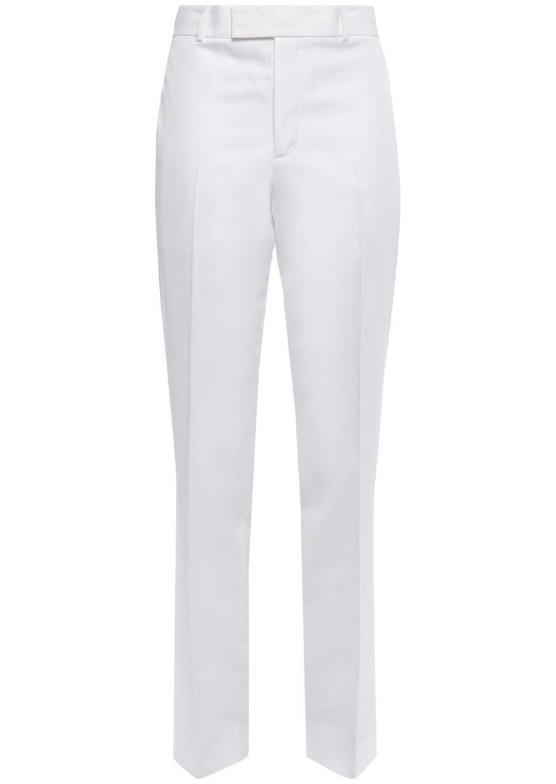 Helmut Lang Woman Cotton-blend Twill Straight-leg Pants White