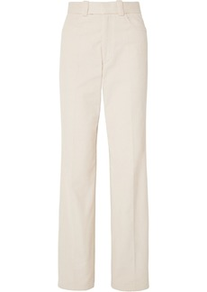 Helmut Lang Woman Cotton-corduroy Straight-leg Pants Cream