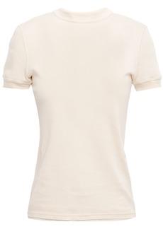 Helmut Lang Woman Cotton-jersey T-shirt Ecru