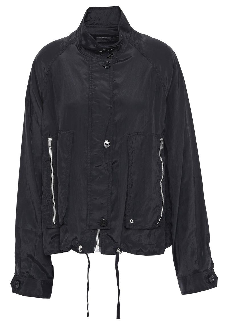 Helmut Lang Woman Crinkled-shell Jacket Black
