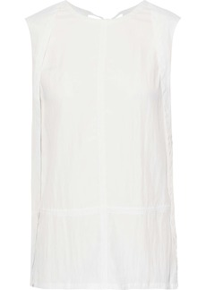 Helmut Lang Woman Crinkled-shell Top Ivory