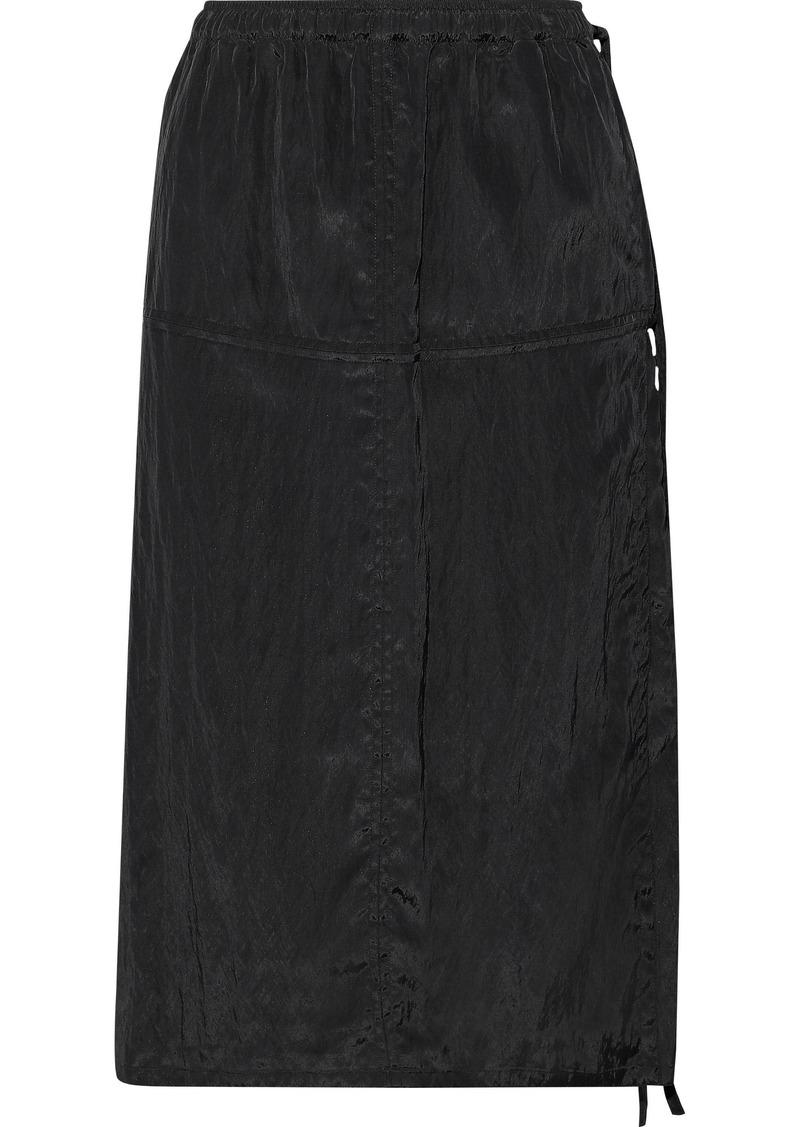 Helmut Lang Woman Crinkled-shell Wrap Skirt Black