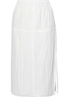 Helmut Lang Woman Crinkled-shell Wrap Skirt White
