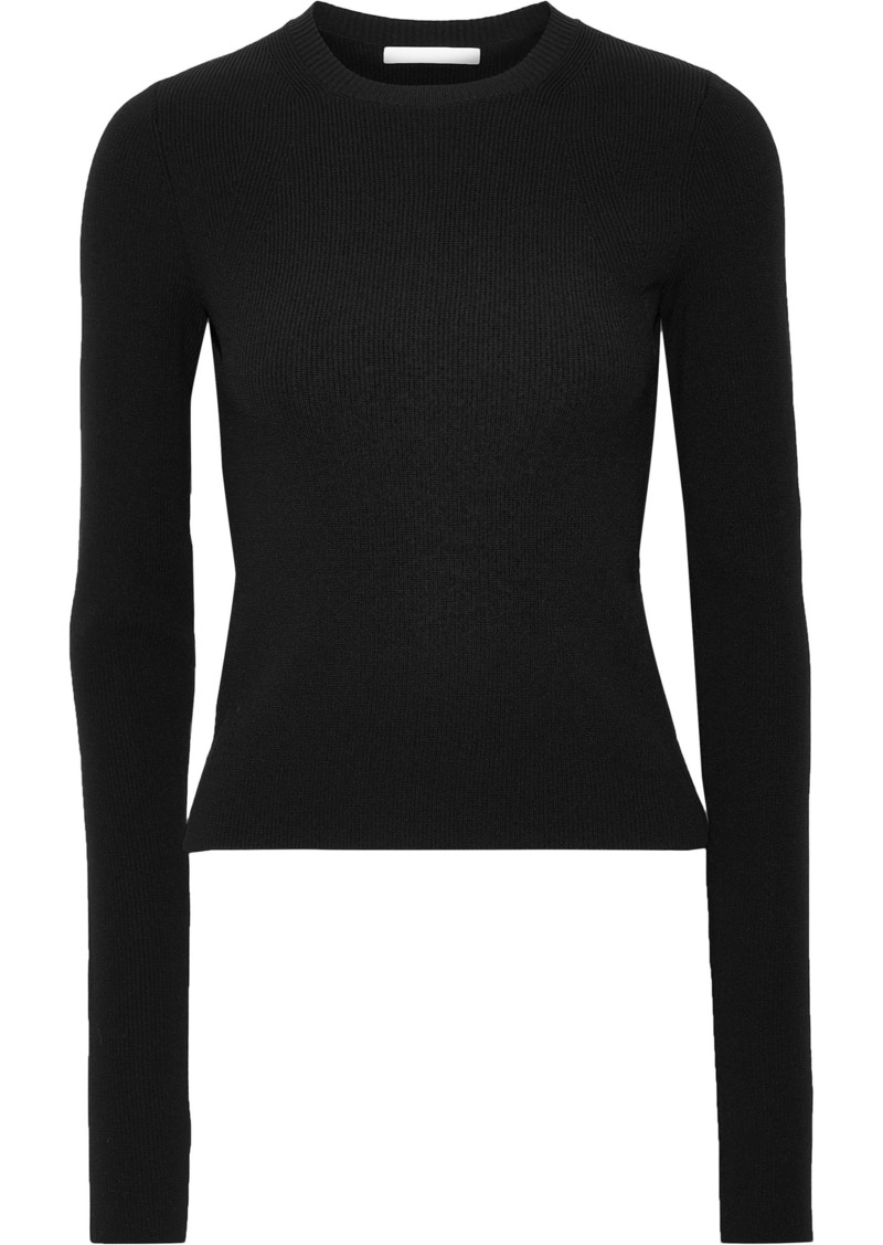 Helmut Lang Woman Ribbed-knit Top Black