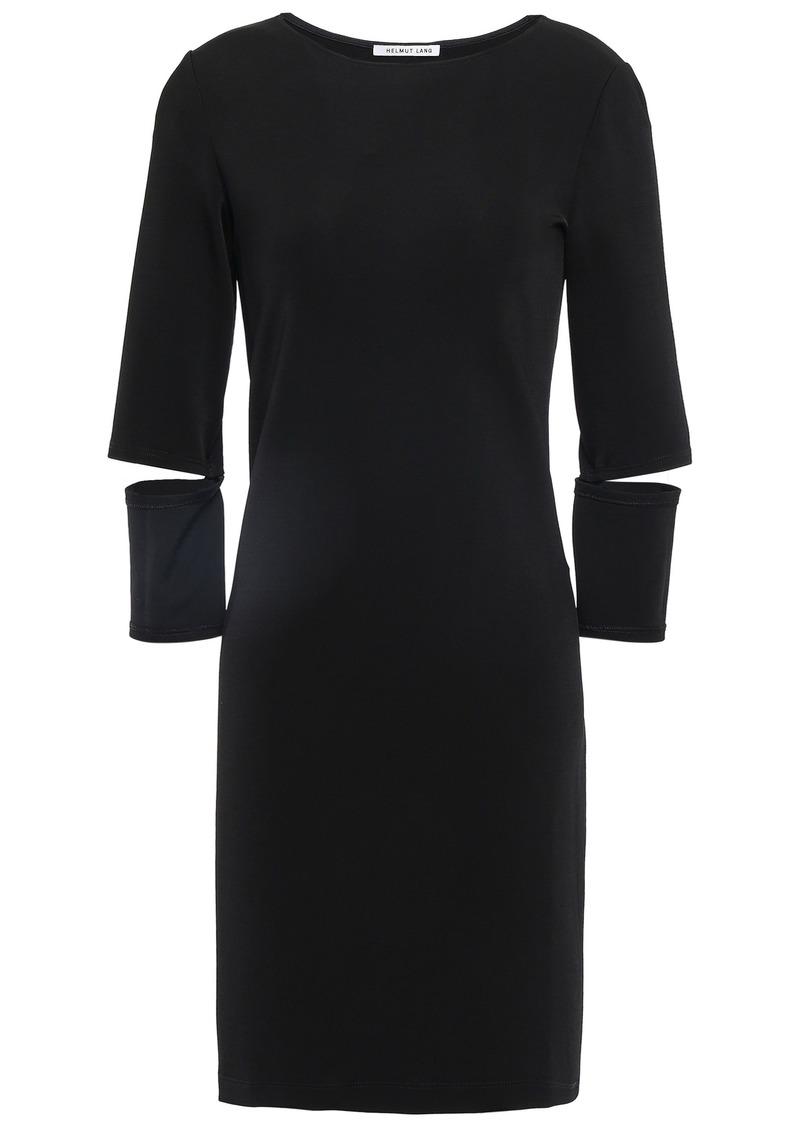 Helmut Lang Woman Cutout Jersey Mini Dress Black