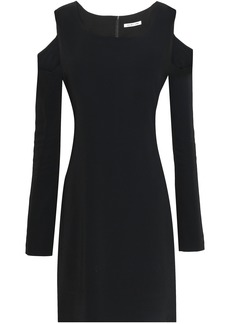 Helmut Lang Woman Cutout Ponte Mini Dress Black