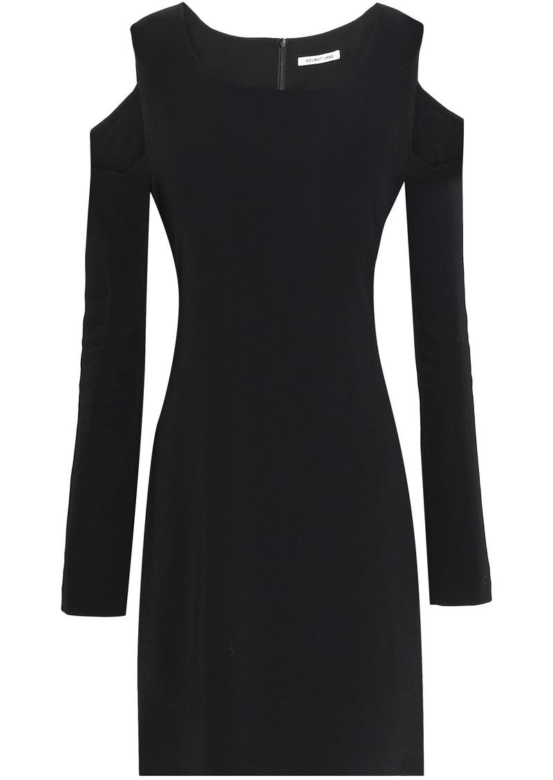 Helmut Lang Woman Cutout Ponte Mini Dress Black