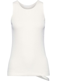 Helmut Lang Woman Cutout Ribbed-knit Tank White