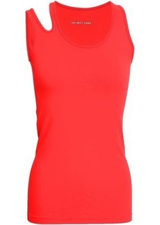 Helmut Lang Woman Cutout Stretch-jersey Tank Papaya