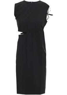 Helmut Lang Woman Cutout Woven Mini Dress Black
