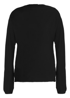 Helmut Lang Woman Cutout Woven Top Black