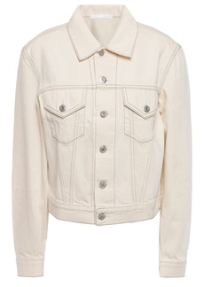 Helmut Lang Woman Denim Jacket Cream
