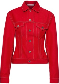 Helmut Lang Woman Denim Jacket Tomato Red