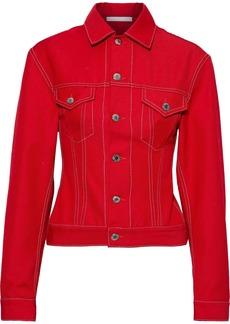 Helmut Lang Woman Denim Jacket Tomato Red