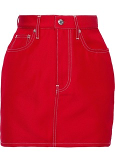 Helmut Lang Woman Denim Mini Skirt Red