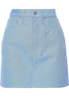 Helmut Lang Woman Denim Mini Skirt Light Blue