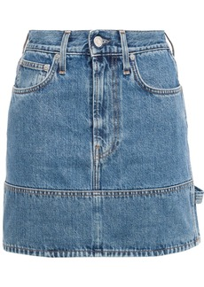Helmut Lang Woman Denim Mini Skirt Mid Denim