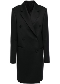 Helmut Lang Woman Double-breasted Wool-blend Twill Coat Black