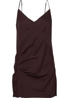 Helmut Lang Woman Draped Satin-twill Camisole Grape