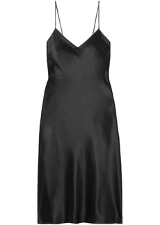 Helmut Lang Woman Embellished Silk-satin Mini Dress Black