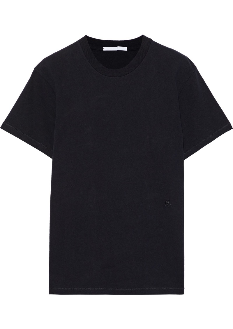 Helmut Lang Woman Cotton-jersey T-shirt Black
