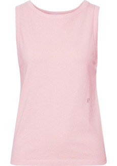 Helmut Lang Woman Embroidered French Cotton-terry Tank Baby Pink