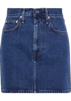 Helmut Lang Woman Femme Hi Denim Mini Skirt Mid Denim