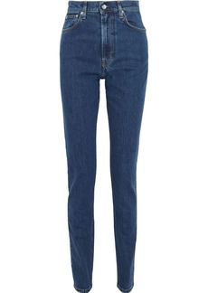 Helmut Lang Woman Femme Hi Spikes High-rise Slim-leg Jeans Mid Denim