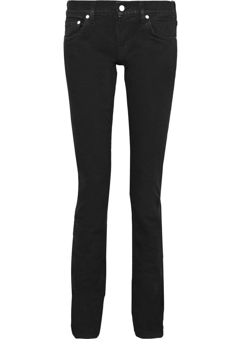Helmut Lang Woman Femme Lo Low-rise Slim-leg Jeans Black