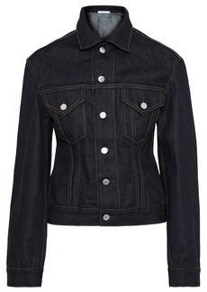 Helmut Lang Woman Femme Trucker Denim Jacket Dark Denim