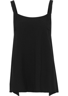 Helmut Lang Woman Frayed Stretch-jersey Tank Black