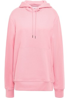Helmut Lang Woman French Cotton-terry Hoodie Baby Pink