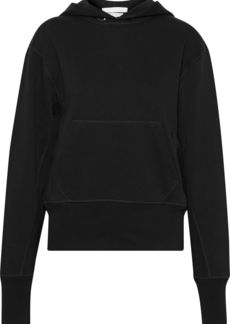 Helmut Lang Woman French Cotton-terry Hoodie Black