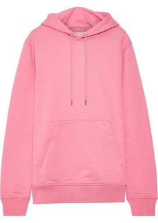 Helmut Lang Woman French Cotton-terry Hoodie Pink